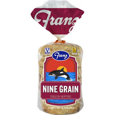 Franz English Muffins, Nine Grain