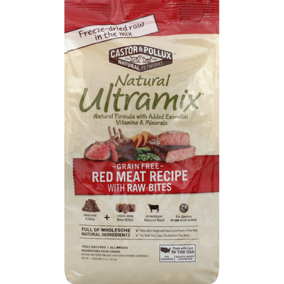 Natural Ultramix Dog Food, Adult, Grain-Free, Red Meat Recipe, with Raw Bites