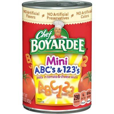 Chef Boyardee Cs And 123s In Sauce