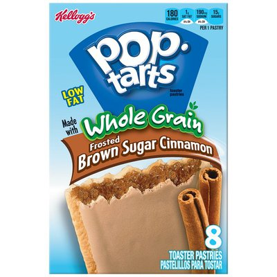 Kellogg's Pop-Tarts Whole Grain Frosted Brown Sugar Cinnamon Toaster Pastries