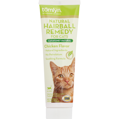Tomlyn Hairball Remedy, for Cats, Chicken Flavor, Natural, All Ages