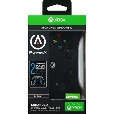 XBox Wired Controller, Black, Enhanced