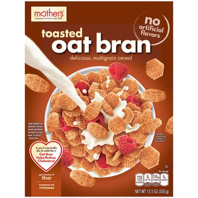 Mother's Toasted Oat Bran Delicious, Multigrain Cereal