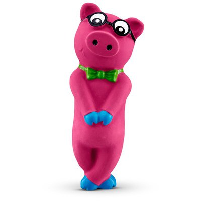 Leaps & Bounds Bashful Nerdy Pig Latex Dog Toy Small