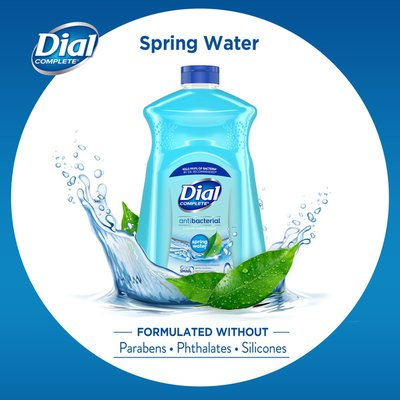 Dial Complete Antibacterial Liquid Hand Soap Refill, Spring Water
