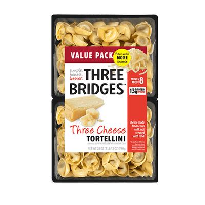 Three Bridges Tortellini, Triple Cheese, Value Pack