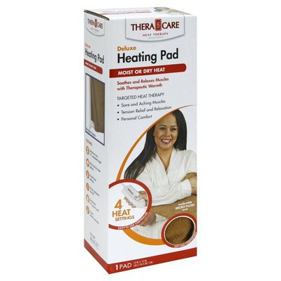 Thera Care Heating Pad, Moist or Dry Heat, Deluxe