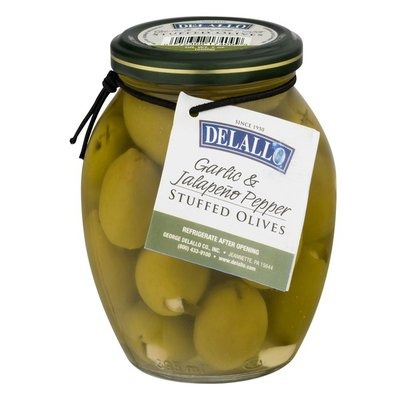 DeLallo Garlic & Jalapeño Pepper Stuffed Olives