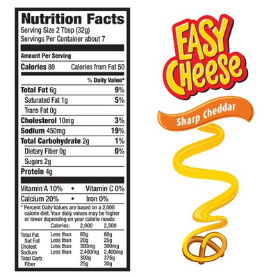 Easy Cheese Sharp Cheddar Cheese Snack