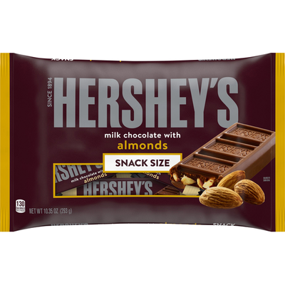 Hershey's Milk Chocolate, with Almonds, Snack Size