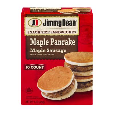 Jimmy Dean Snack Size Maple Pancake & Sausage Sandwiches, Frozen