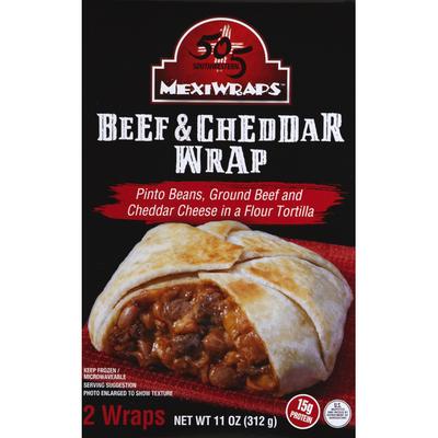 505 Southwestern Wrap, Beef & Cheddar