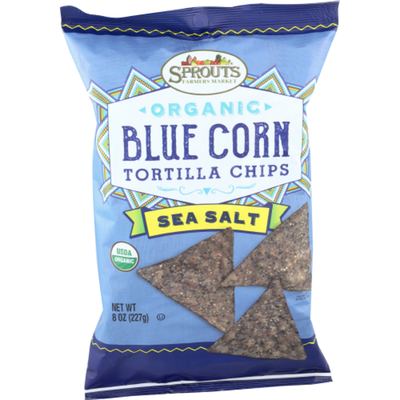 Sprouts Organic Sea Salt Blue Corn Chips