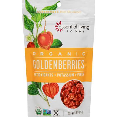 Essential Living Foods Goldenberries, Organic, Antioxidants + Potassium + Fiber