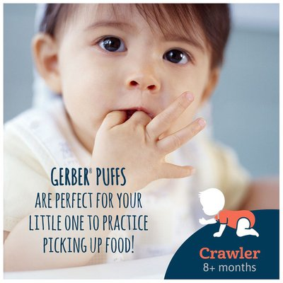 Gerber Puffs Strawberry Apple Cereal Snacks