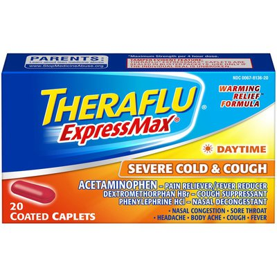Theraflu ExpressMax Daytime Coated Caplets Severe Cold & Cough
