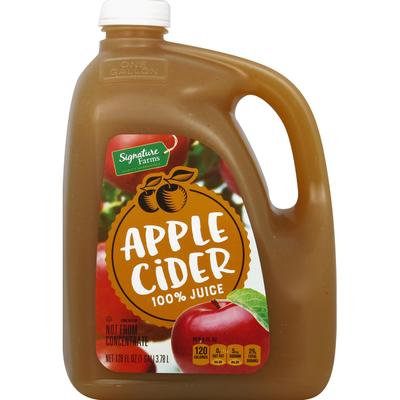Signature Farms 100% Juice, Apple Cider