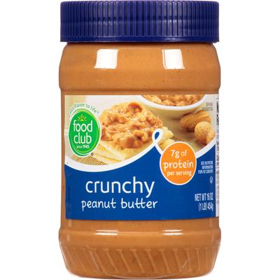 Food Club Peanut Butter, Crunchy