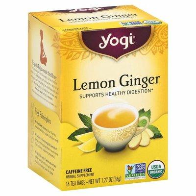Yogi Tea Herbal Tea, Lemon Ginger Tea, Supports Healthy Digestion