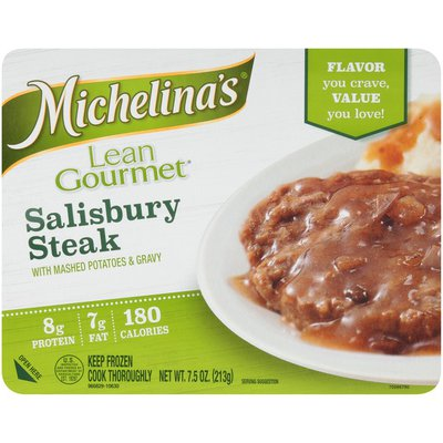 Michelina's Lean Gourmet Salisbury Steak with Mashed Potatoes & Gravy Frozen