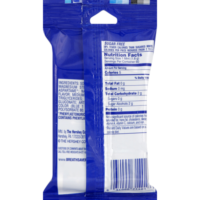 Breath Savers Mints, Sugar Free, Peppermint