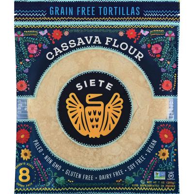 Siete Tortillas, Grain Free, Cassava Flour