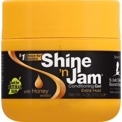 Shine n Jam Conditioning Gel, with Honey Extract, Extra Hold