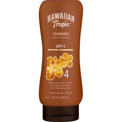 Hawaiian Tropic Tanning Lotion Sunscreen SPF 4