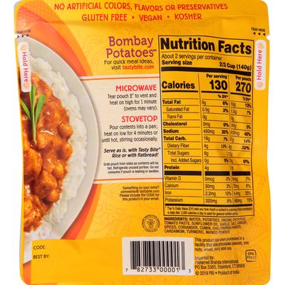 Tasty Bite Bombay Potatoes, Indian, Medium