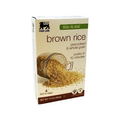 Food Lion Brown Rice, Whole Grain, Boil-in-Bag