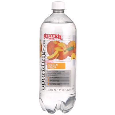 Stater Bros. Markets Golden Peach Sparkling Water