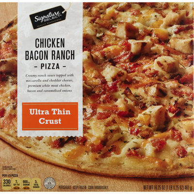 Signature Select Pizza, Ultra Thin Crust, Chicken Bacon Ranch