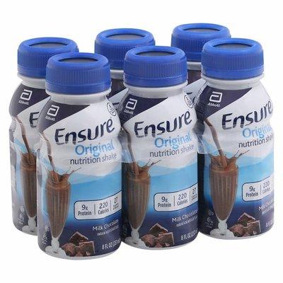 Ensure Original Nutrition Shake Milk Chocolate Ready-to-Drink Bottles