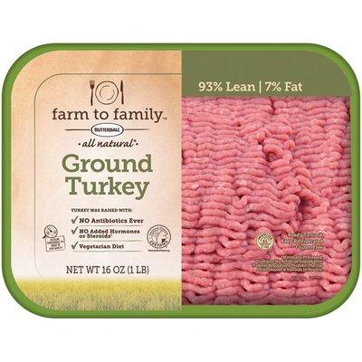 Farm To Family All Natural Ground Turkey Turkey