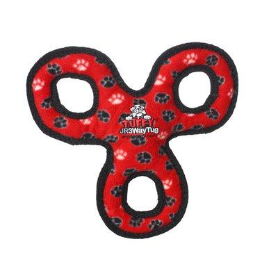 Vip Products Tuffy's Red Paw Print Jr 3 Way Tug Dog Toy