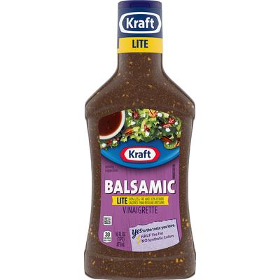 Kraft Balsamic Vinaigrette Lite Salad Dressing