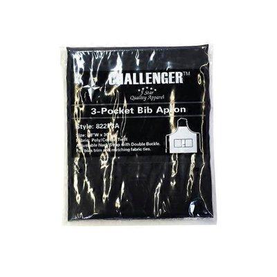 "Challenger 3 Pocket Black Apron 28"" x 30"""