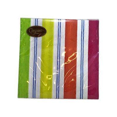 Caspari Awning Stripe Brights Cocktail Napkins