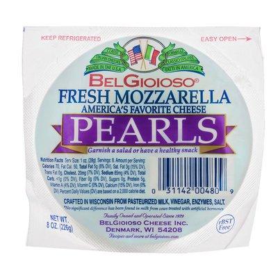 BelGioioso Cheese Fresh Mozzarella Cheese, Pearls, Cryo