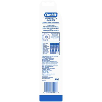 Oral-B Pro-Health Clinical Battery Powered Toothbrush