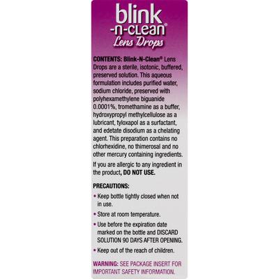 Blink-N-Clean Lens Drops, for Soft & RGP Lenses