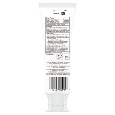Burt's Bees Kids Toothpaste, Natural Flavor, With Fluoride, Fruit Fusion