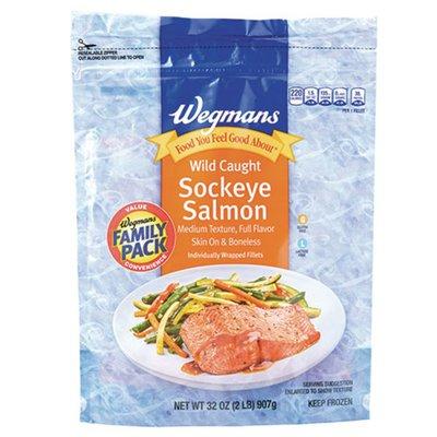 Wegmans Wild Caught Sockeye Salmon Fillets, FAMILY PACK