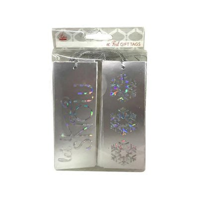 Edg Silver Foil Gift Tags