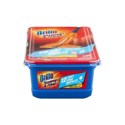 Brillo Sweep & Mop Wet Pad Refills Citrus Scent - 12 CT