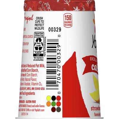 Yoplait Original Yogurt, Low Fat Yogurt, Strawberry Mango