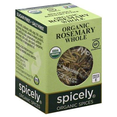 Spicely Organics Rosemary, Whole, Organic