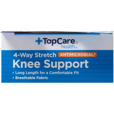 TopCare Antimicrobial 4-Way Stretch Moderate Knee Support, Large/X-Large