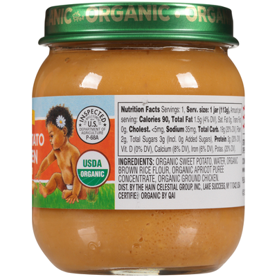 Earth's Best Stage 2 Sweet Potato & Chicken Organic Baby Food