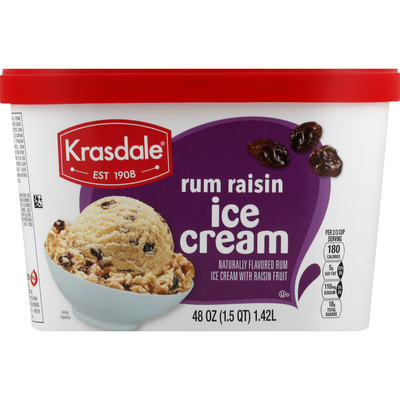 Krasdale Ice Cream, Rum Raisin